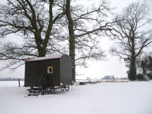 Red Barn - caravan-snow
